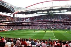 橄榄球或足球场 免版税库存照片
