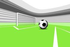 橄榄球操场场面与空的体育场的惩罚施行 皇族释放例证