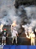 橄榄球支持者 免版税库存图片