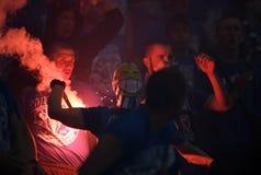 橄榄球支持者 库存图片
