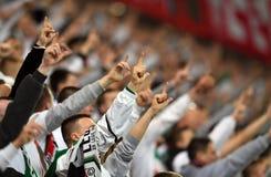 橄榄球支持者 免版税图库摄影