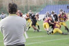 橄榄球教练 免版税库存图片