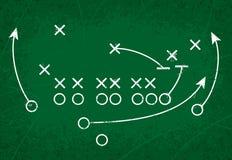 橄榄球方法作用 免版税图库摄影