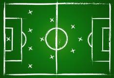 橄榄球方法配合 库存例证