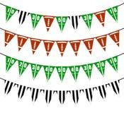 橄榄球旗布下垂党装饰 向量例证