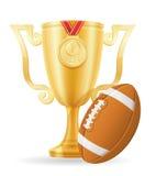 橄榄球杯子优胜者黄金储备传染媒介例证 免版税库存照片