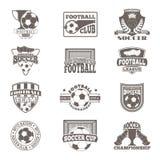 橄榄球标志传染媒介徽章 免版税库存照片
