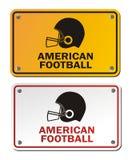 橄榄球标志 免版税库存照片