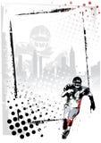 橄榄球框架 免版税图库摄影