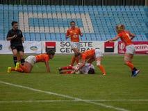 橄榄球欧洲妇女Sevens 库存图片