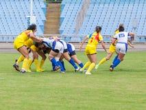 橄榄球欧洲妇女Sevens 图库摄影