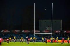 橄榄球比赛在罗马尼亚 免版税库存图片