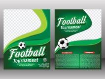 橄榄球比赛飞行物&杂志模板 图库摄影