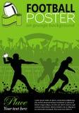 橄榄球海报 免版税库存图片
