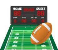 橄榄球炫耀数字式记分牌传染媒介例证 免版税库存图片