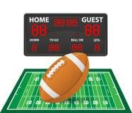 橄榄球炫耀数字式记分牌传染媒介例证 免版税图库摄影