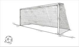 橄榄球球和目标 库存例证