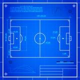橄榄球球场测量经典足球  库存照片