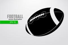 橄榄球球的剪影 免版税图库摄影