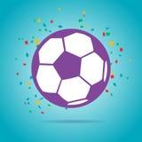 橄榄球球紫色商标 免版税库存图片