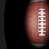 橄榄球球黑暗的背景 向量 免版税库存照片