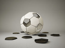 橄榄球球 免版税库存照片