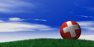橄榄球瑞士 库存照片