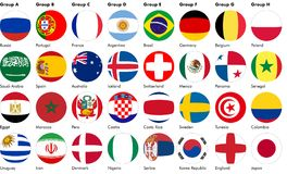 橄榄球由旗子做的足球 向量例证