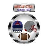 橄榄球的商标例证 免版税图库摄影