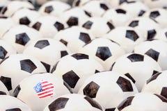 橄榄球的概念在美国 免版税库存图片