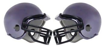 橄榄球盔六 库存照片