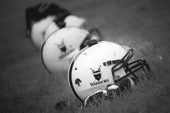 橄榄球盔甲 库存照片