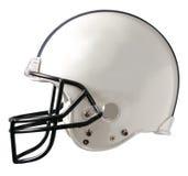 橄榄球盔白色 免版税库存图片