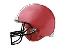 橄榄球盔红色 免版税库存照片