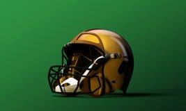 橄榄球盔 免版税库存图片