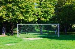 橄榄球目标在公园 免版税库存照片