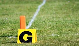 橄榄球目标标记 免版税图库摄影