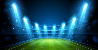 橄榄球竞技场 向量 向量例证
