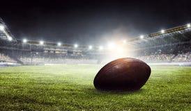 橄榄球竞技场 混合画法 库存照片