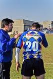 橄榄球符合Cus托里诺与橄榄球Paese 库存图片
