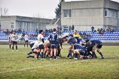 橄榄球符合Cus托里诺与Amatori帕尔马 图库摄影
