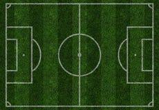 橄榄球绿色领域 免版税库存图片