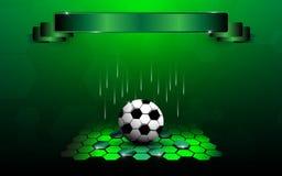 橄榄球联盟回顾摘要设计背景 免版税库存图片