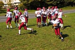 橄榄球联盟实践青年时期 图库摄影