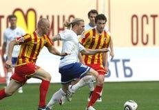 橄榄球联盟首要的俄语 免版税库存照片