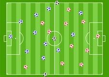 橄榄球背景 向量例证