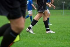 橄榄球腿 库存照片