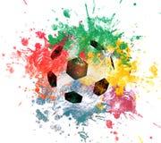 橄榄球艺术例证 街道图表样式足球 时尚时髦的印刷品 模板服装,卡片,标签,海报 象征 库存照片