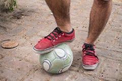 橄榄球让作用 库存图片