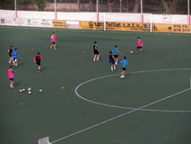 橄榄球训练(II) 库存图片